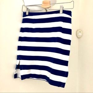 Beautiful stretchy Striped Skirt - Size 0.